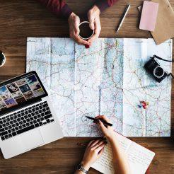 karta och planering av konferensresor